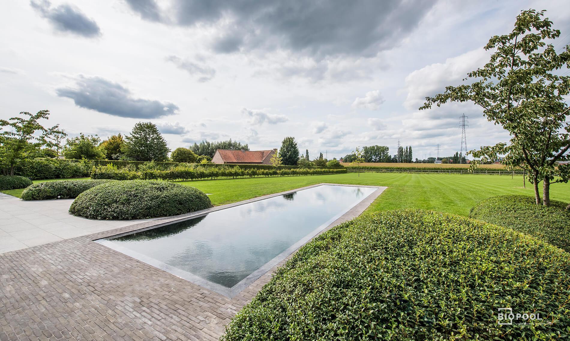 Afbeelding project Bouwkundig | mozaïek | overloop zwembad | kleiklinkers | Kortrijk