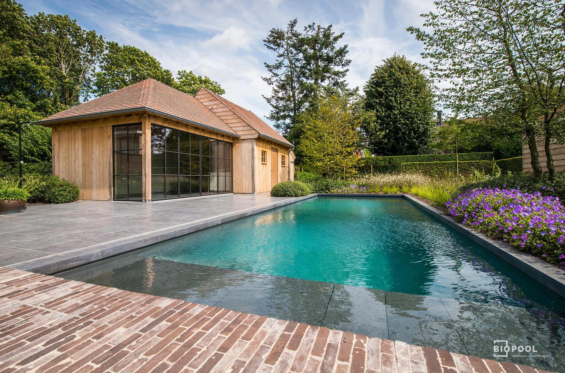Afbeelding project Bouwkundig |  ombouw zwemvijver tot een mooi Biopool zwembad