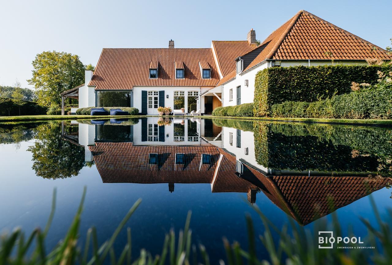 Afbeelding project Bouwkundig | Mozaïek | overloopzwembad met rondom gras