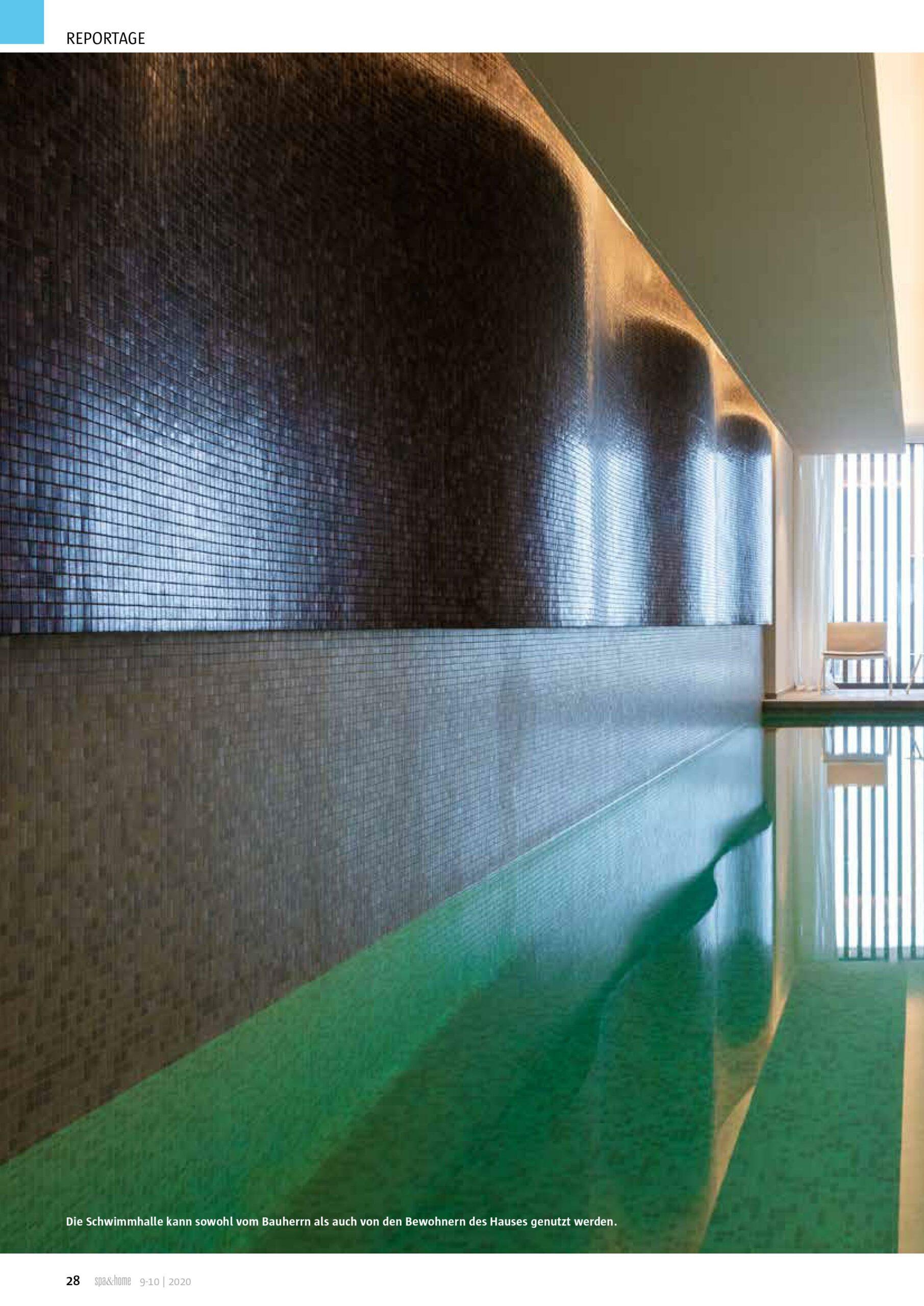 Afbeelding nieuwsitem Reportage Spa & Home – binnen zwembad