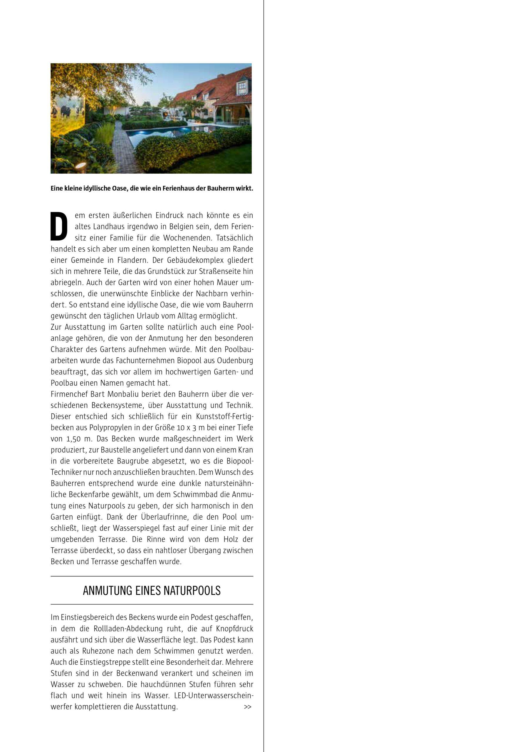 Afbeelding nieuwsitem Reportage Spa & Home – overloop zwembad